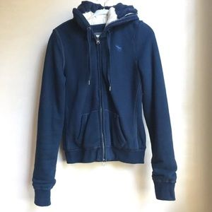 Abercombie & Fitch Wool Knit Zip Up Hoodie Jacket